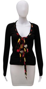 Dolce&Gabbana Floral Silk Long Sleeve Cardigan
