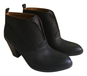 Lucky Brand Leather Heel Black Boots