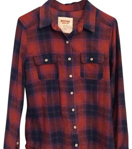 Mossimo Supply Co. Button Down Shirt red and blue