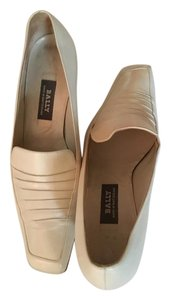 Bally Leather Embossed Beige Formal