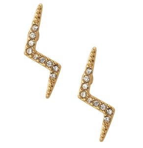 Stella & Dot Gold Pave lightening Studs