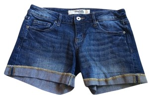Charlotte Russe Cuffed Shorts Denim