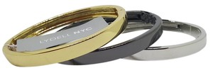 Lydell NYC Lydell NYC Tri Color Bangles , Silver , Gold and Gunmetal Plated