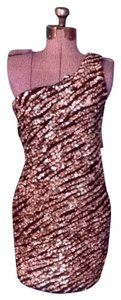 Alice + Olivia Gold Stacey Bendet Sequin Dress