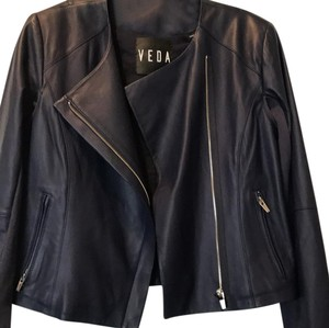 VEDA lapis (navy) Leather Jacket
