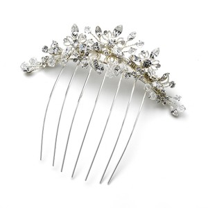 Elegance By Carbonneau Comb 1855 Silver Clear