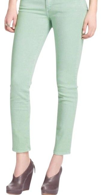Item - Mint Green Light Wash The Stevie Ankle Slim Straight Leg Skinny Jeans Size 28 (4, S)