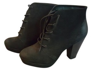 Mossimo Supply Co. Chunky Suede Platform Black Boots