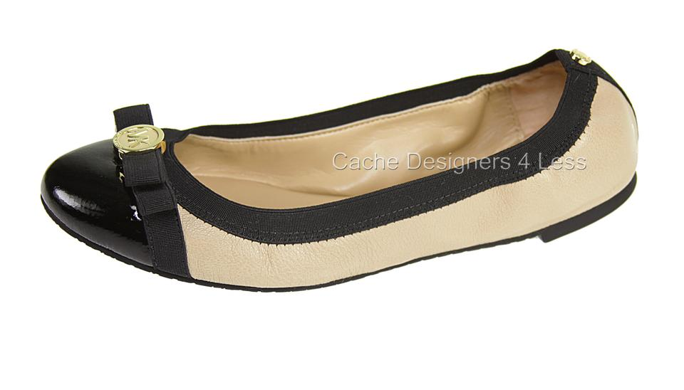 b52cf1002 Michael Kors Black/Nude Black/Nude Dixie Patent Leather Ballet ...