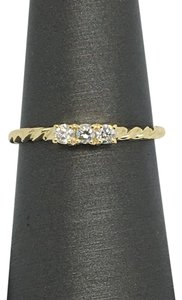 Other 14K Yellow Gold Natural Diamond Twist Rope Ring