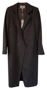 Halston Professional Edgy Tailored Heathered Black Blazer