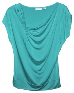 New York & Company Pleated Top TEAL