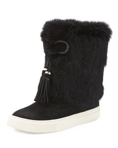 Tory Burch Fur Anjelica Black Boots