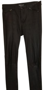 Vince Leather Straight Pants Black