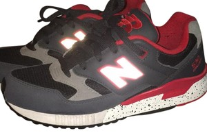 New Balance Gray, Black, Red Athletic