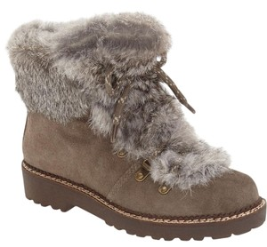 Arturo Chiang Hiking Rabbit Fur Womens Hiking Ankle Gray Boots