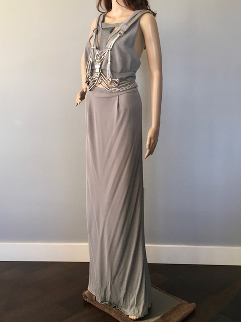 Item - Grey Ready-to-wear Collection Long Formal Dress Size 8 (M)