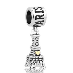 Other Paris Eiffel Tower With Heart Love Charm