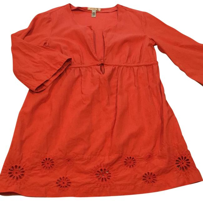 Item - Coral Linen Tunic/Swim Cover Up Tunic Size 6 (S)