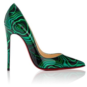Christian Louboutin Green/Black Pumps