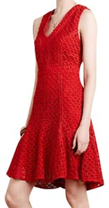 Anthropologie Lined Cotton Crochet Dress