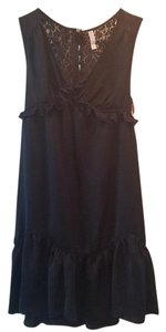 Xhilaration short dress Navy Ruffle Lace Trim on Tradesy