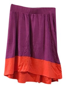 Lilla P Mini Skirt pink and orange