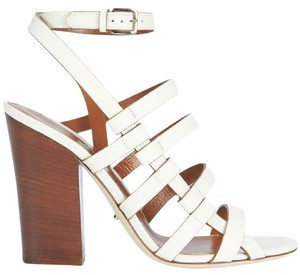 Sergio Rossi Leather White Sandals