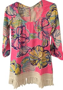 Lilly Pulitzer Fringe Hot Alia Off The Top Pink