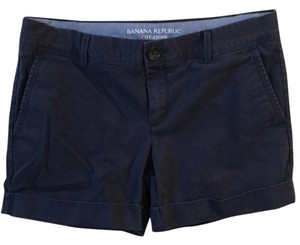Banana Republic Cuffed Shorts Navy