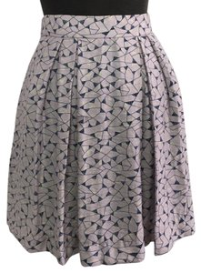 BCBGeneration Mini Skirt pastel purple, navy and off white print