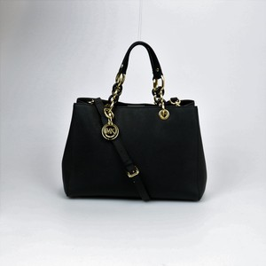 Michael Kors Leather Chain Satchel in Black