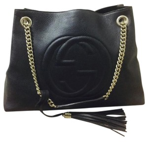 Gucci Soho Leather Black Bag Hobo Bag