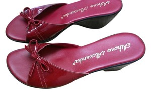 Athena Alexander Bow Comfortable Red Sandals