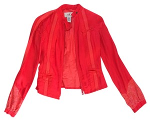 A|X Armani Exchange Bright Coral/Red Jacket