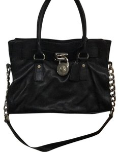Michael Kors Tote in black with silver finishes and chain