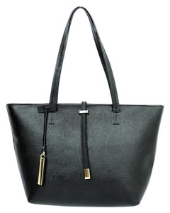 Vince Camuto Saffiano Leather Tote in Black