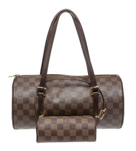Louis Vuitton Papillon 30 Papillon Damier Canvas Satchel in Brown
