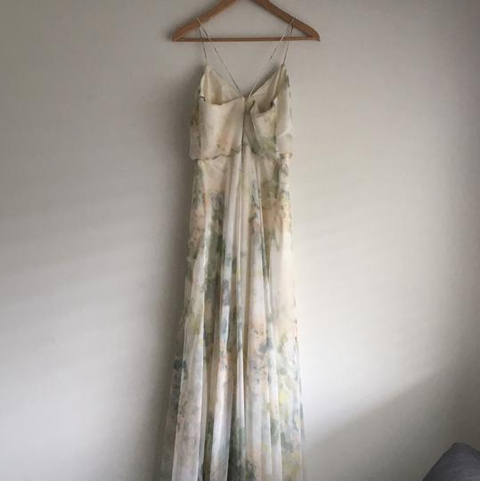 BHLDN Ivory Sage Multi Check Website For Details Inesse By Jenny Yoo Feminine Bridesmaid/Mob Dress Size 4 (S) Image 1
