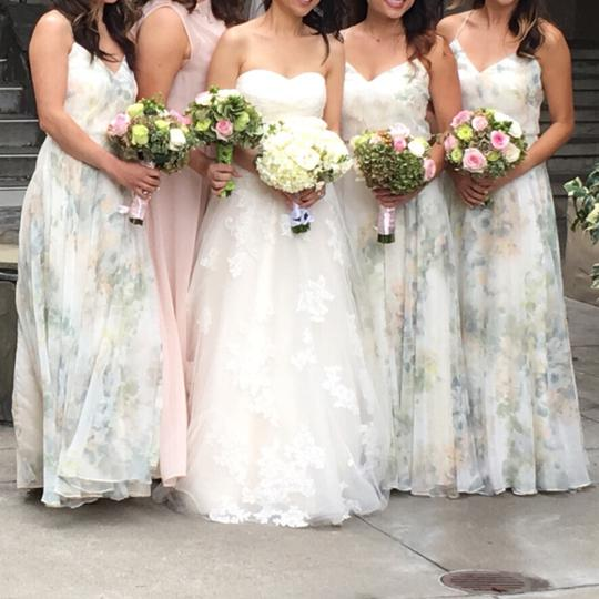 BHLDN Ivory Sage Multi Check Website For Details Inesse By Jenny Yoo Feminine Bridesmaid/Mob Dress Size 4 (S) Image 2