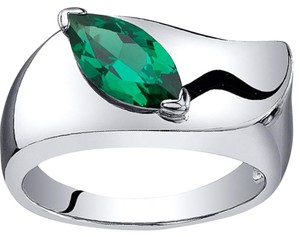 Other Sterling Silver Emerald Ring