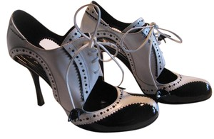Dior Gangster Business Pinstripe Patent Leather Black Pumps