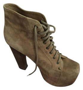 Jeffrey Campbell Taupe suede Boots