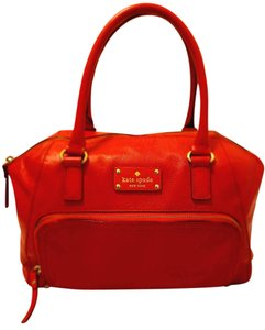 Kate Spade Refurbished Leather Lined Satchel in Red