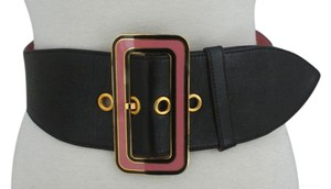 Miu Miu Shaped Black Leather belt