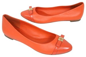 Tory Burch Valentino Espadrille Monogram Chanel Louis Vuitton Orange Flats