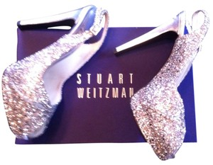 Stuart Weitzman Silver Sequin Formal