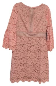Vince Camuto Bell Sleeves Lace Peach Bell Dress