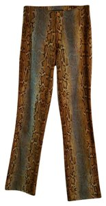 Tark 1 Color Animal Print Paris Snake Straight Pants Multi color-print