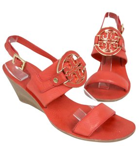 Tory Burch Chanel Gucci Monogram Valentino Louis Orange Wedges